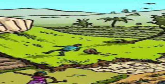 satna : first killed green trees then stole the weir of the pond